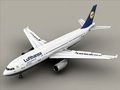 Airbus A300 Lufthansa 3D Model- Very high definition model of an Airbus A300 textured as Lufthansa. All flaps, rudders and the landing gear can be animated. All textures included in tga, eps and Adobe Illustrator format.Max Format:The flaps, rudders and the landing gear are animated. Meshsmooth is applied so you can set the object resolution as you like. Just use the Named Selection Set meshsmooth to select the SubD objects.Obj Format:In 3 different resolutions ranging from 111056 to 634628…
