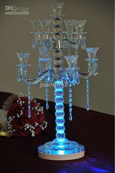 Wholesale Party Decoration - Buy LED RGB 8 Round Base Light Wedding Centerpiece Eiffel Tower Vase Decor, $27.9   DHgate