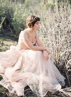 Blush Pink Wedding Dress Inspiration | Wedding Sparrow