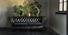 Herne Bay old English black Chesterfield Bank, Old English, Couch, Furniture, Handmade, Home Decor, Black, Hand Made, Decoration Home