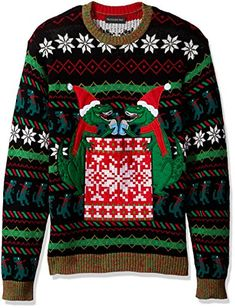 Blizzard Bay Mens Elf Cat Ugly Christmas Sweater