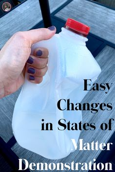 Changes in States of Matter: A Demonstration for Your Classroom Science Demonstrations, Science Experiments Kids, Science Lessons, Teaching Science, Science Chemistry, Easy Science, Science Classroom, Life Science, States Of Matter Worksheet