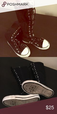 c673d277482e Black super high top Converse style boot Not Converse brand but that kind  of style.