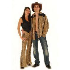 Westernhemd Schlange Herren Hemd Cowboy Fasching Party