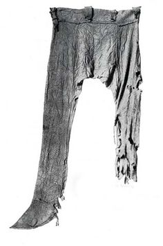 Trousers, Germanic, ca. 4th C. Found in a moor near Thorsberg. Gottorp Palace, Schleswig, Germany.