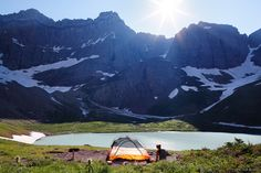 20 spectacular places to go camping. This photo was taken in Glacier National Park in Montana.