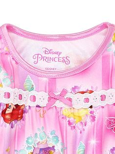 5cb51b09b3 Disney Princess Toddler Girls Long Sleeve Flannel Granny Gown Nightgown  Pajamas Length from shoulder to hem approx  Size 2T - 25 inches  Size 3T -  27 inches ...
