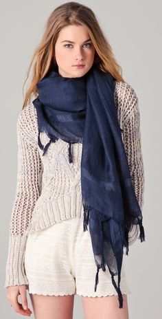 Love Quotes Knotted Tassel Scarf - StyleSays