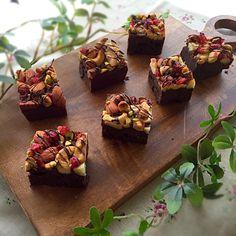 sakura's dish photo チョコナッツブラウニー | http://snapdish.co #SnapDish #チョコレート #バレンタイン #スイーツ祭り2016 #おやつ #ケーキ