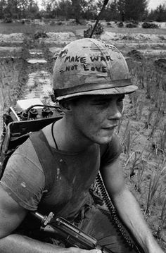1967 photograph of Marine Cpl. Michael Wynn in the Vietnam War.  Used for Meat Is Murder 1985