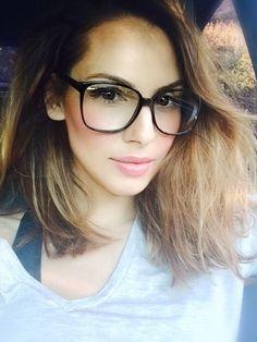 Retro Vintage Huge Big Oversized Square Black Frame Women Men Eyeglasses Glasses
