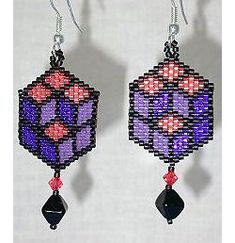 Beaded Earrings Pattern by Holle Randy at Sova-Enterprises.com