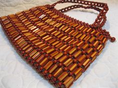 Sale Vintage Wood Bead Handbag the ANNeTte Purse by bethanyg13, $16.00