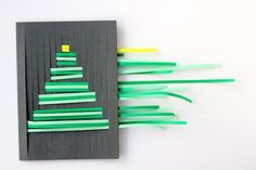 woven paper christmas cards are my fave