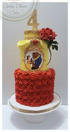 Amazing beauty & the beast cake! (beautiful desserts awesome)