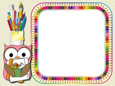 School Frame, I School, Hand Washing Poster, School Border, Owl Classroom, Theme Pictures, School Clipart, Bird Crafts, School Art Projects