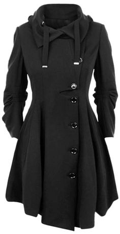 We know you can't resist a super comfy, super cute, black coat! Nobody can! Nobody we know at least!If you ever put this casual coat with button on, you may never take it off! Perfect option for you at Cupshe.com !