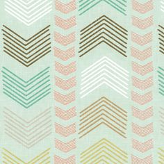 Herringbone Geometric Stripe in Summer Pastels fabric by willowlanetextiles on Spoonflower - custom fabric