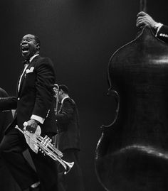 LOVE this photo of Louis Armstrong! #jazzlegend