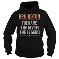 BRUINGTON The Myth, Legend - Last Name, Surname T-Shirt - #mothers day gift #fathers gift