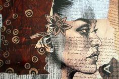 Red woman Yemen por StephanieLedouxArt en Etsy