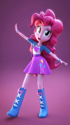 Equestria Girls 3D Model of Pinkie Pie. This is so cool! I want to be able to do stuff like this!