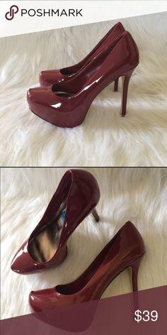 Steven Madden red platform heels size 10 Steven madden heels worn once, like new condition. Shoes Heels