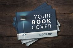 Landscape Book Cover Mockup by attraax on @creativemarket