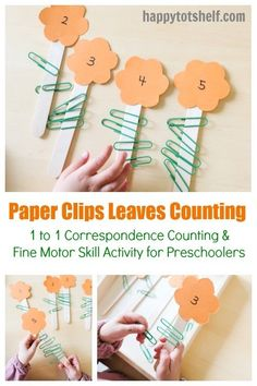 Paper Clips Flower and Leaves Counting – Happy Tot Shelf Paper Clips Leaves Counting Activity for Preschoolers Counting Activities For Preschoolers, Numeracy Activities, Motor Skills Activities, Spring Activities, Preschool Activities, Preschool Education, Counting For Kids, Language Activities, Reading Activities
