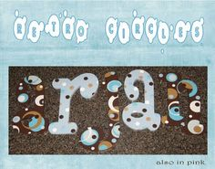 Hand Painted baby blue and brown polka dot wooden letters  www.funkyletterboutique.com