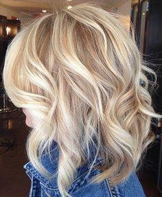 Gorgeous Butter Blonde Medium Hairstyles for Women 2015