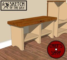 """Sketch of the Day: """"Ready For School"""" Bench"""