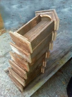 www.JCcypress.com Stack of small reclaimed pine niches (available at The Queen Bee)