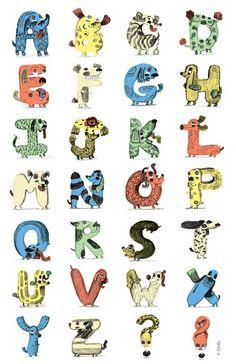 Alphabet   Dogfabet                                                                                     by Ohara Hale