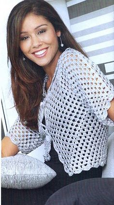 Crochet sweater with chart.