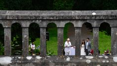 Getting married outside a castle#woods#ceremony#intimate