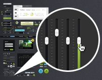 Futurico – Free User Interface Elements Pack by Vladimir Kudinov, via Behance