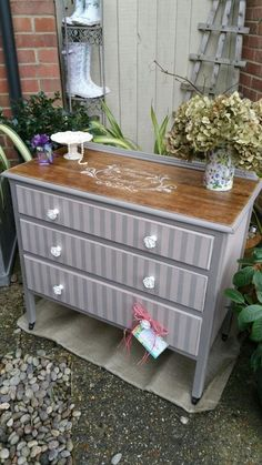 Shabby Chic French Styled Vintage Chest of Drawers in Annie Sloan Chalk Paint