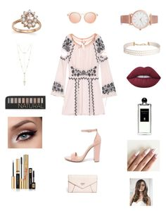"""Untitled #222"" by heather2003 on Polyvore featuring For Love & Lemons, Steve Madden, GUESS, Larsson & Jennings, Bloomingdale's, Humble Chic, House of Harlow 1960, Lime Crime, Forever 21 and Serge Lutens"