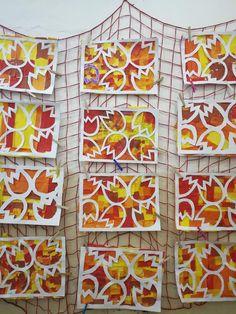 tulipány, jaro, výtvarka, Fall Crafts, Diy And Crafts, Arts And Crafts, Flower Crafts, Flower Art, Diy For Kids, Crafts For Kids, Fall Art Projects, Paper Roll Crafts