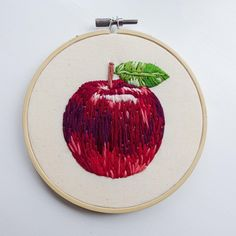 "671 Likes, 23 Comments - Little Sasquatch Embroideries (@littlesasquatchembroideries) on Instagram: ""An apple for teacher ‍ #bookstitch2018 hoop number 6: Inspired by The Prime of Miss Jean Brodie…"""