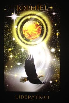 "Liberation~ ""We all seek spiritual liberation. When we achieve it our soul soars like an eagle with the intoxication of divine love. This card suggests this may be a moment when you Jophiel's supernal help, and it invites you to meditate on the beautiful yellow ray of this Archangel's force. The vibration of this bright supernal frequency will always allow you to feel detached..."" ~ from the Angels of Atlantis Oracle cards #liberation #angelofatlantis #oraclecard"