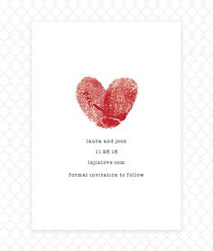Fingerprint  Wedding  Save the Date  Wedding Shower  by drippyink