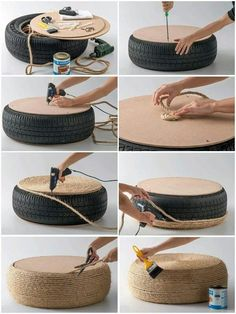Cool cat scratcher or outdoor seating...looks cheap & easy