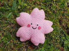 Amigurumi Crochet Pattern Sakura Cherry Blossom by PawPawsStudio