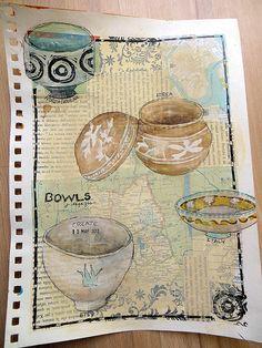 the sketchbook challenge - bowls   Jane LaFazio