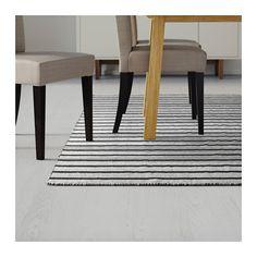 RASKMÖLLE Teppich flach gewebt, schwarz Handarbeit schwarz