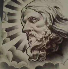 Religious Tattoos, Religious Art, Future Tattoos, Tattoos For Guys, Jesus Tattoo Design, Blessed Tattoos, Ozzy Tattoo, Virgin Mary Art, Tattoo Lettering Styles