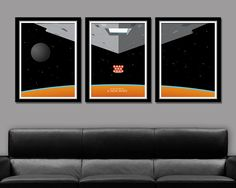 Star Wars A New Hope Inspired Minimalist Movie Poster Set Edition One - Home Decor
