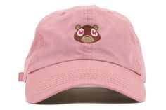 ccf769b37a6 Kanye West The College Dropout Bear Pink Yeezus Yeezy Strapback Baseball  Fitted Trucker Cap Embroidered Hat